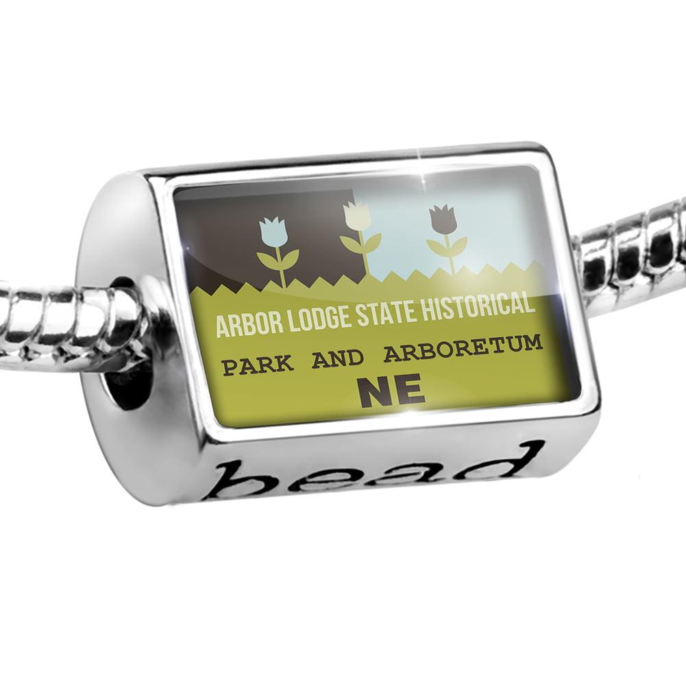 Bead US Gardens Arbor Lodge State Historical Park and Arboretum - NE Charm Fits All European Bracelets