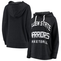 Golden State Warriors Sportiqe Women's Kylie French Terry Oversized Raglan Pullover Hoodie - Heathered Black