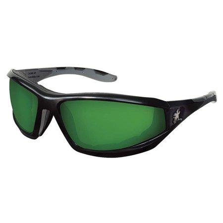 Shade 2.0 Safety Glasses, Scratch-Resistant, Price For: Each Frame Color: Black Standards: ANSI Z87.1-2010 UV Protection: 99.9% Lens Material: Polycarbonate Frame.., By Crews