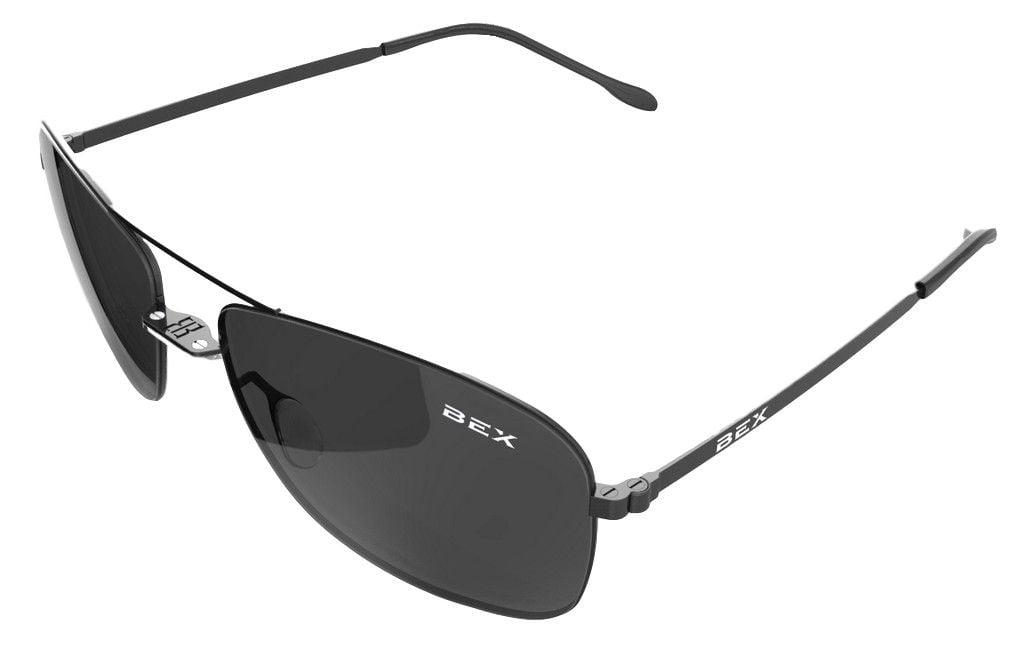 8072c6f9b7 Bex - Bex Sunglasses Nylon Polarized Titanium Deklyn Black Grey D3X7Q -  Walmart.com