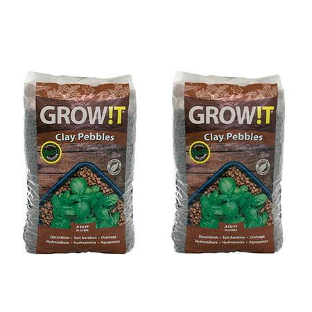 2-Pack Hydrofarm GROW!T Horticultural Clay Pebbles, 25-Liter Bags | 2 x GMC25L ()