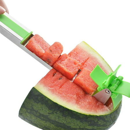 Watermelon Windmill Cutter Slicer, Stainless Steel Melon Cuber Knife,New Kitchen Gadgets Stainless Steel One Step Cutter Watermelon Cubes Slicer and Corer - image 7 of 7