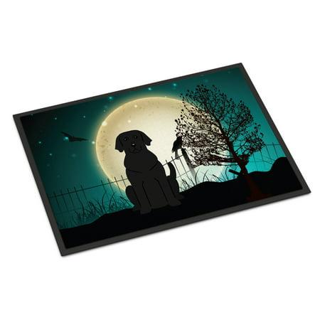 Halloween Scary Black Labrador Door Mat - Labrador Halloween Pics