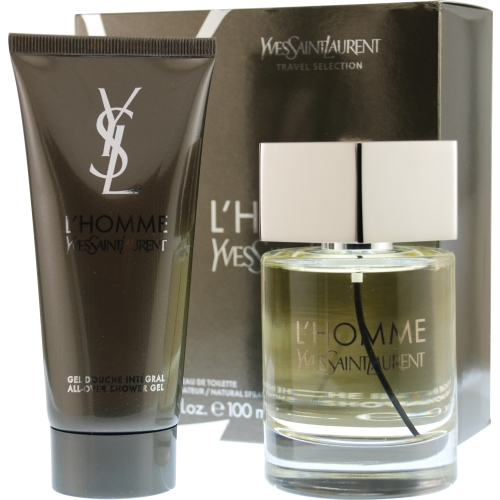 L'homme Yves Saint Laurent Set-Edt Spray 3.3 Oz & All Over Shower Gel