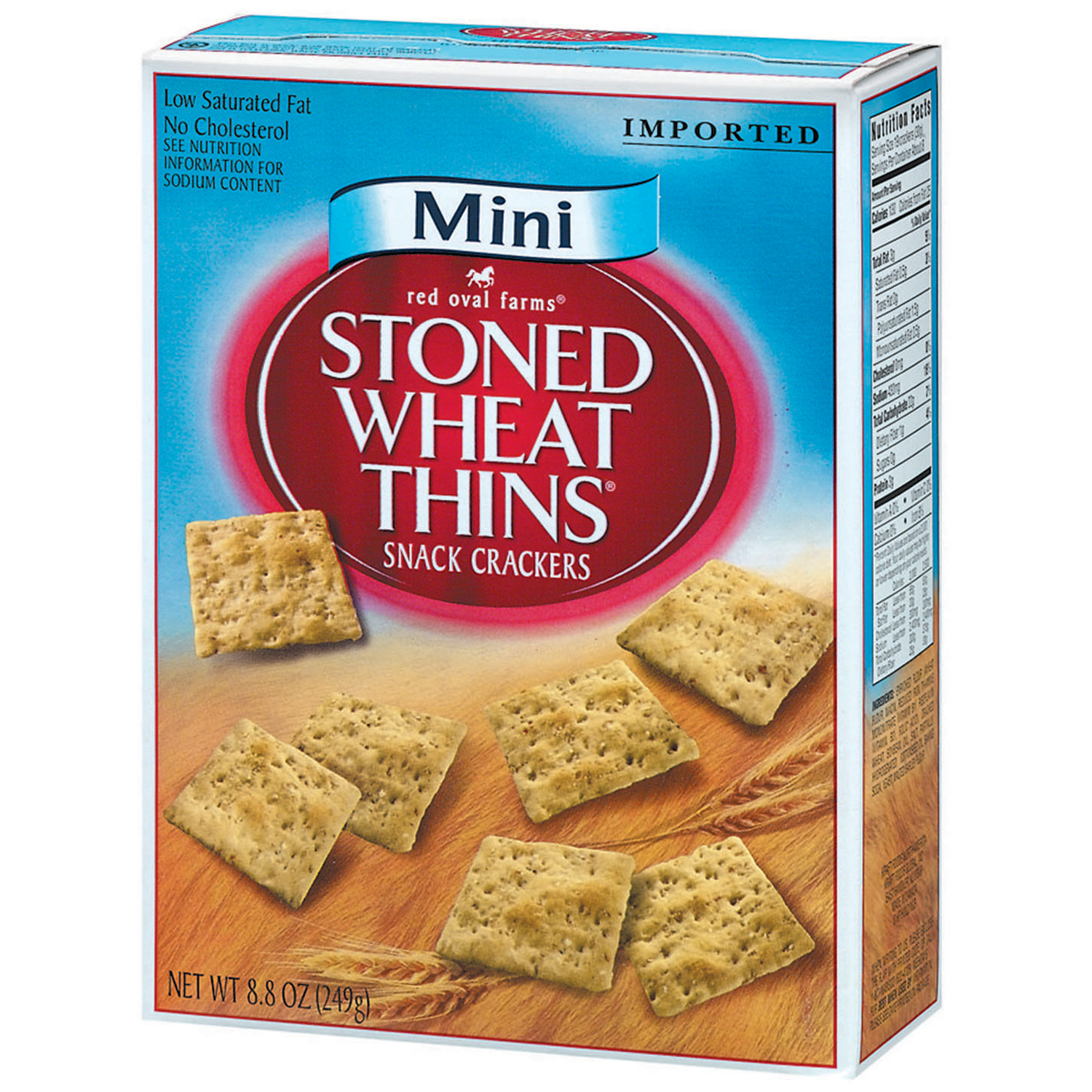 Nabisco Red Oval Farms: Mini Stoned Wheat Thins Crackers, 8.8 Oz
