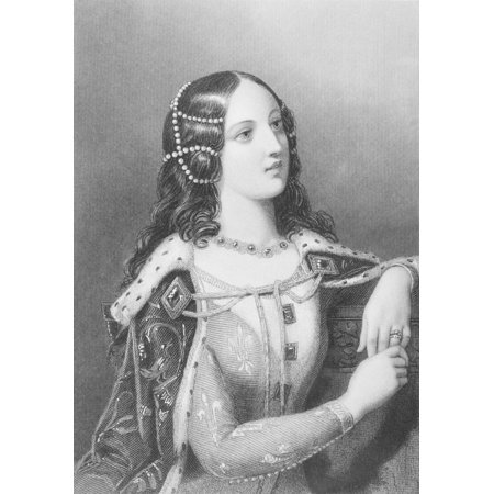 Isabella Of Valois 1389-1409 Second Wife Of King Richard Ii Of England Engraved By WHMote After ECorbould From The Book The Queens Of England Volume I By Sydney Wilmot Published London Circa 1890
