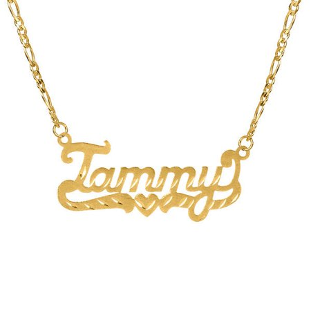 Personalized 14k gold over sterling silver diamond cut nameplate personalized 14k gold over sterling silver diamond cut nameplate necklace with an 18 inch silver plated aloadofball Images