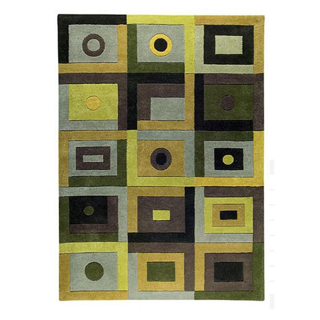 Decor Rug Hand Tufted 2007 Green 4.5 ft. x 6.5 ft