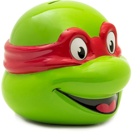 Teenage Mutant Ninja Turtle Ceramic Raphael Head Piggy Bank