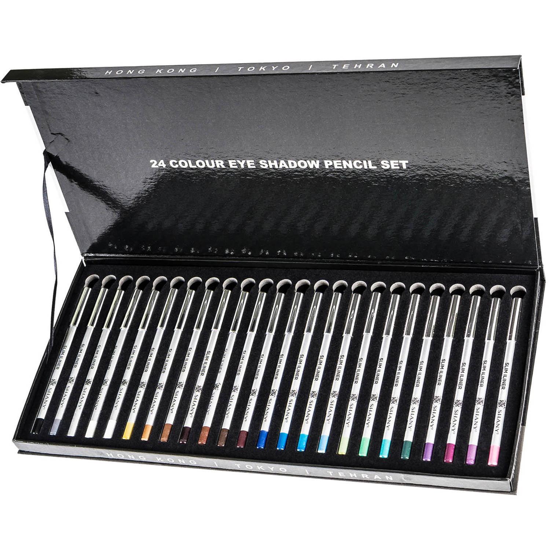 SHANY Slim Pencil Eyeliner Set, 24 pc