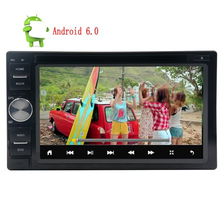 2Din Car Dvd Player Android 6 0 System Quad Core Gps Car Radio Stereo In Dash Autoradio Stereo System Gps Navigation Bluetooth Fm Rds Receiver Head Unit Cd Dvd Player 6 2Inch Multi Touchscreen Car Pl