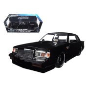 """Dom's Buick Grand National Black Fast & Furious"""" Movie 1/18 Diecast Model Car by Jada"""""""