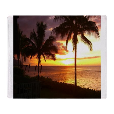 "CafePress - Hawaii Sunset Beaches - Soft Fleece Throw Blanket, 50""x60"" Stadium Blanket"