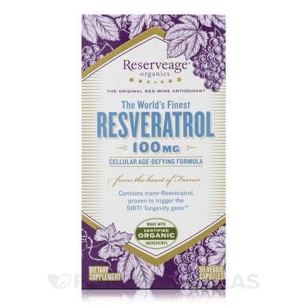 Best Resveratrol 100 mg - 30 Capsules by Reserveage Nutrition deal