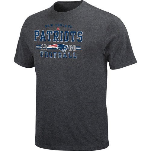 NFL - New England Patriots Heathered Dark Grey Passing Game T-Shirt