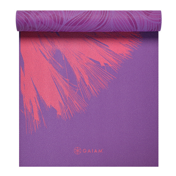 Gaiam Premium Print Reversible Yoga Mat, Dandelion Roar, 6mm