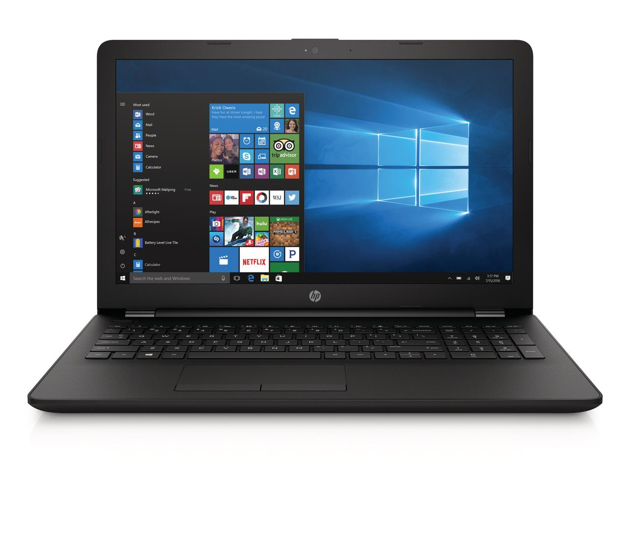 "HP 15-bs212wm 15.6"" Laptop, Windows 10, Intel Celeron N4000 Processor, 4GB Memory, 500GB Hard Drive, DVD,... by HP"
