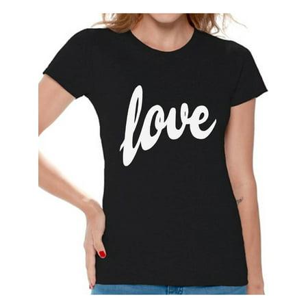 Awkward Styles Love Shirt Love Tshirt for Women St.Valentines Day Shirt Love Gifts Valentines T shirt Women's Love T-Shirt Gift for Her Valentine Shirts for Women Birthday Gift Anniversary Gift ()