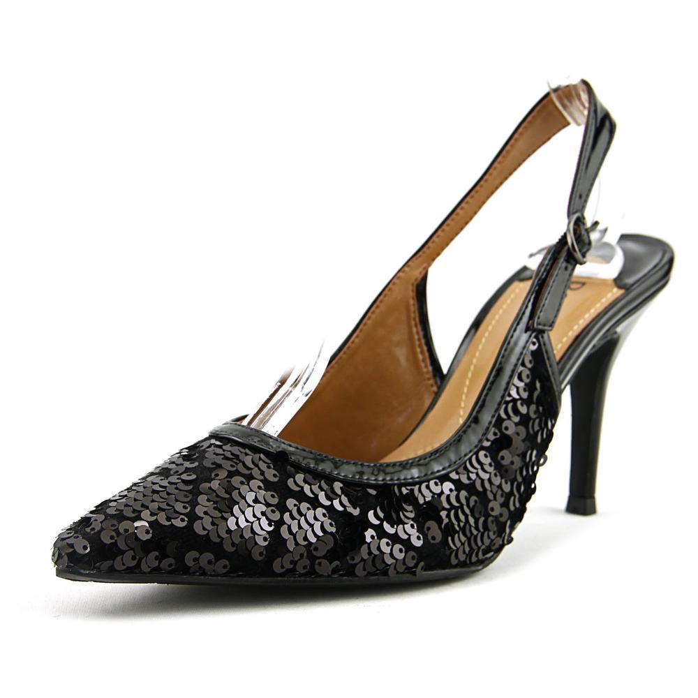 J. Renee Chinaetta Pointed Toe Synthetic Slingback Heel by J. Renee