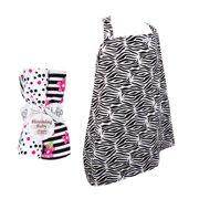 Trend Lab  5-piece Nursing Cover and Burp Cloth Set in Zebra