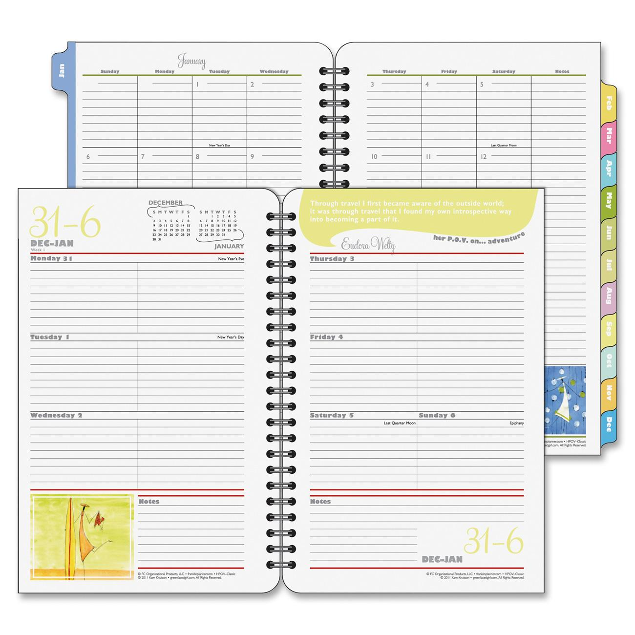 Franklin Covey Her Point Of View Weekly Planner
