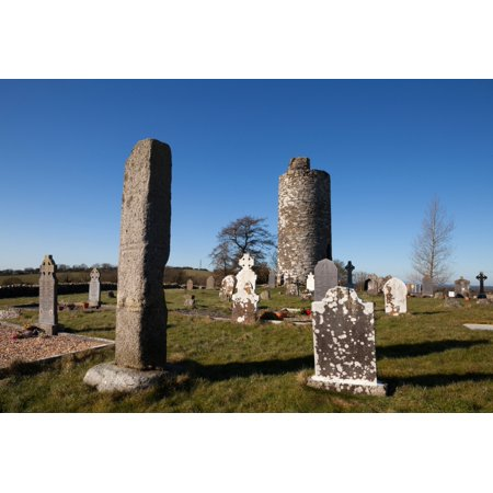 Old Kilcullen Round Tower County Kildare Ireland Canvas Art - Panoramic Images (9 x 27) Old Round Tower