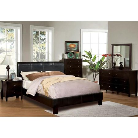 furniture of america villazo espresso 4 piece bedroom set