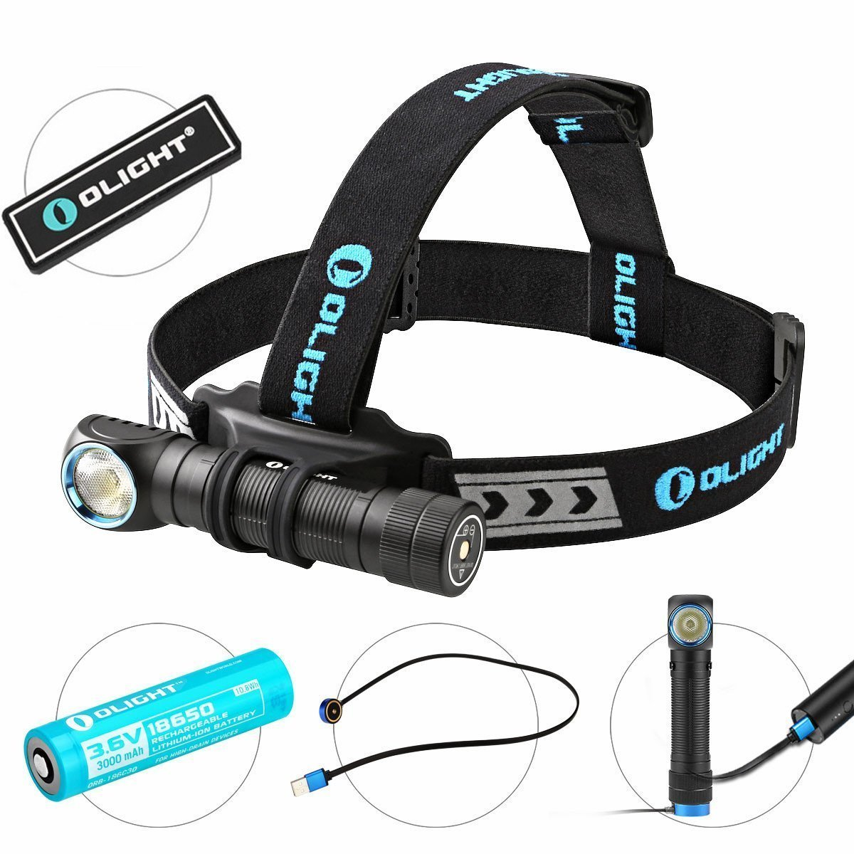 Olight H2R NOVA 2300 Lumens CREE XHP50 LED 18650 USB Rechargeable Flashlight (Neural White)
