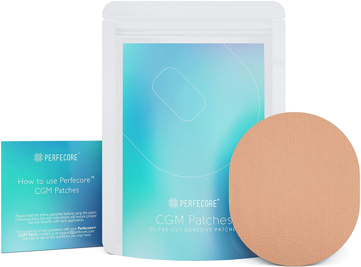 Freestyle Libre Adhesive Patches-55 Pack Freestyle Libre Sensor Covers,Transparent Waterproof Adhesive Patch,Clear CGM Overpatch-Tape Long Lasting to 14 Days-Without Hole.