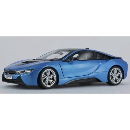 Bmw I8 Protonic Blue And Frozen Grey 1 18 Diecast Model Car By