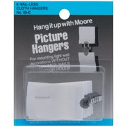 Picture Hangers 6/Pkg-Nail-Less Cloth