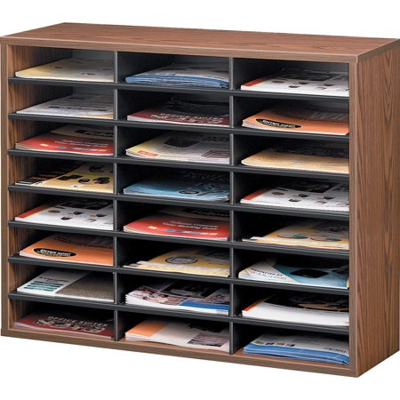 Fellowes, FEL25043, Literature Organizer - 24 Compartment Sorter, Medium Oak, 1 Each, Medium