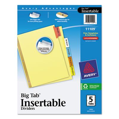 Avery Insertable Big Tab Dividers