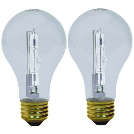 4 Pack - GE Energy-Efficient Crystal Clear 53-Watt, Halogen Light Bulb 2 ea