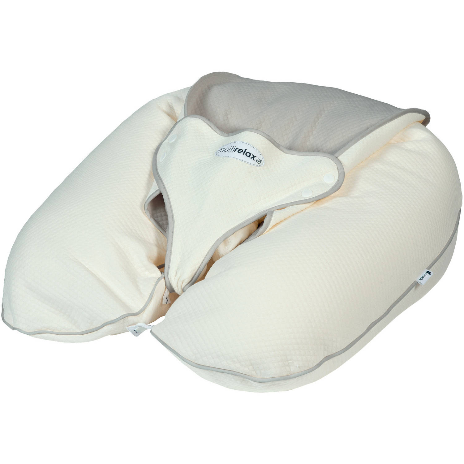 Multirelax+ 3 in 1 Maternity Pillow & Infant Seat- Jersey Cotton- Natural Light Gray by CANDIDE BABY GROUP