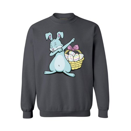 Awkward Styles Dabbing Easter Bunny Sweatshirt for Men and Women Funny Easter Sweater Easter Egg Hunt Outfits Happy Easter Gifts for Him and Her Cute Easter Bunny Sweatshirt Easter Basket Stuffers - Happy Nurses Day Funny
