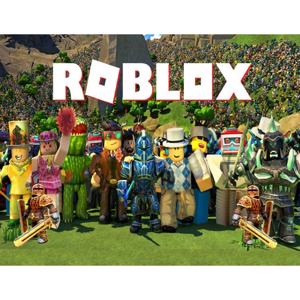 Roblox Assorted Characters And Skins Edible Cake Topper Image