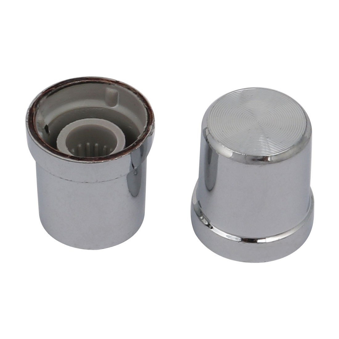 30pcs 14.6mmx16.7mm Plastic Potentiometer Volume Control Rotary Knob Sliver Tone - image 2 of 3