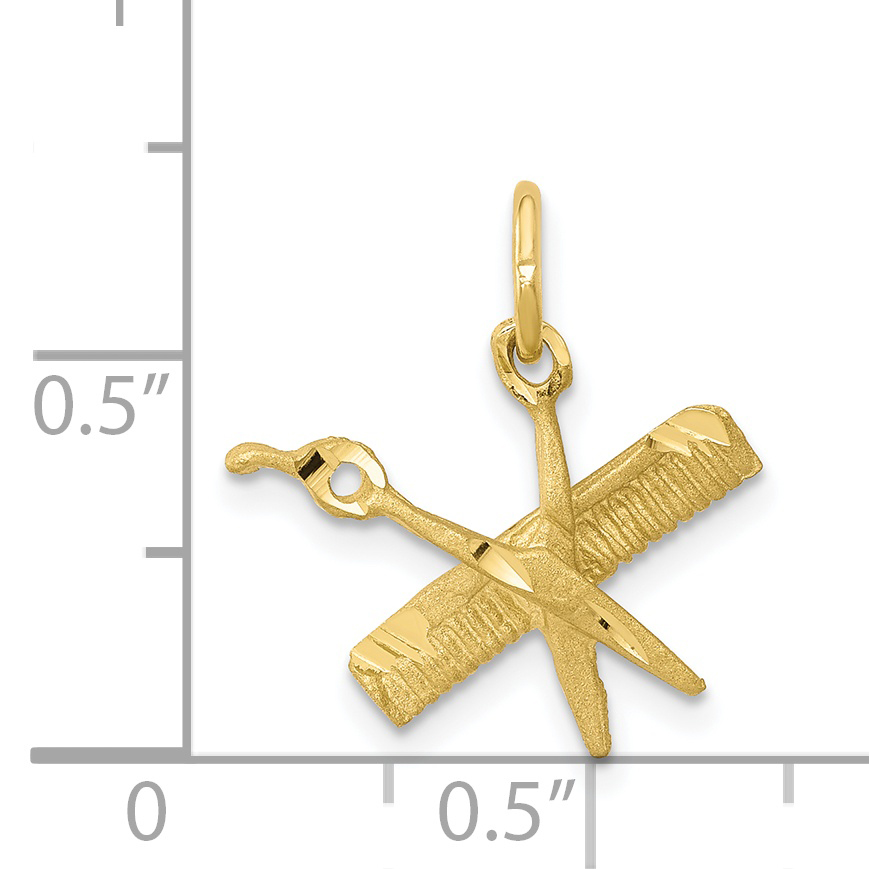 10K Yellow Gold COMB & SCISSORS CHARM - image 1 of 2