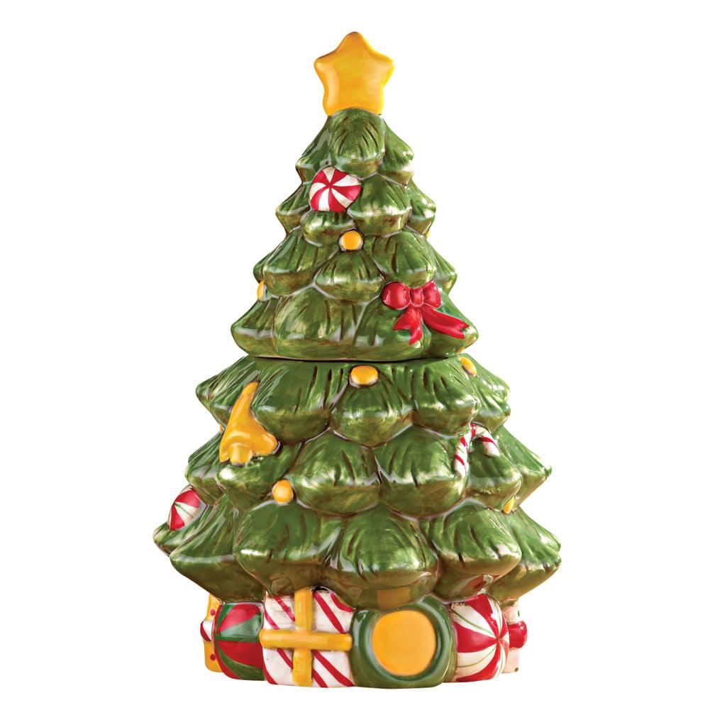 Collections Etc Christmas Tree Cookie Jar - Walmart.com