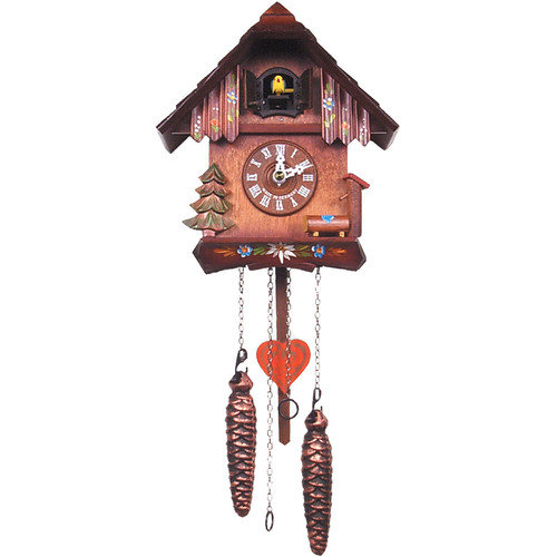 Evergreen and Wildflower Cuckoo Clock