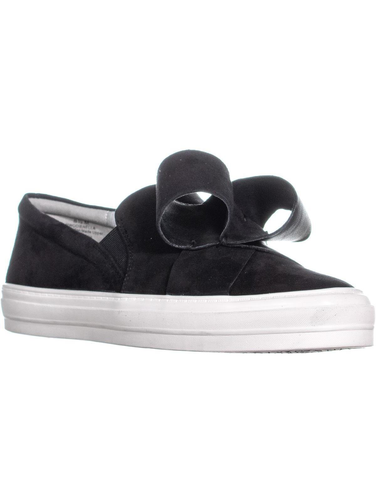 Womens Nine West Odienella Bow Tie Slip On Sneakers, Black Multi