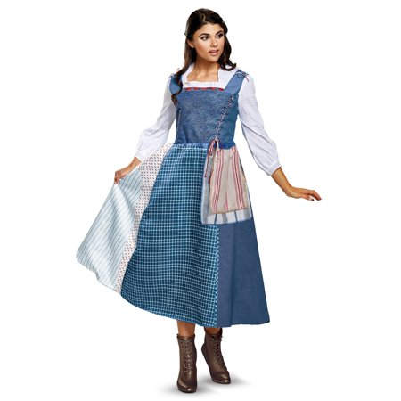 Disney Beauty and the Beast: Belle Village Dress Adult Costume - Belle And The Beast Halloween Costumes