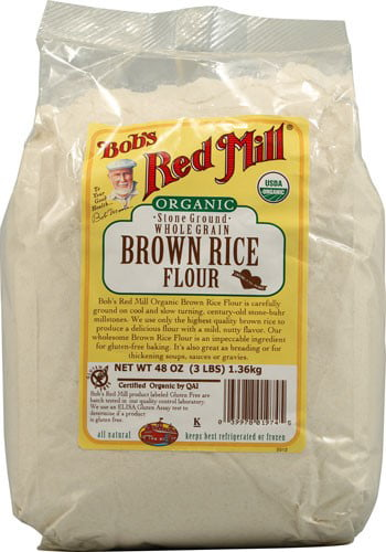 Bobs Red Mill Organic Brown Rice Flour, 48 Oz by Bob'S Red Mill