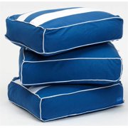 Thick Back Pillow w Removable Cotton Cover - Set of 3