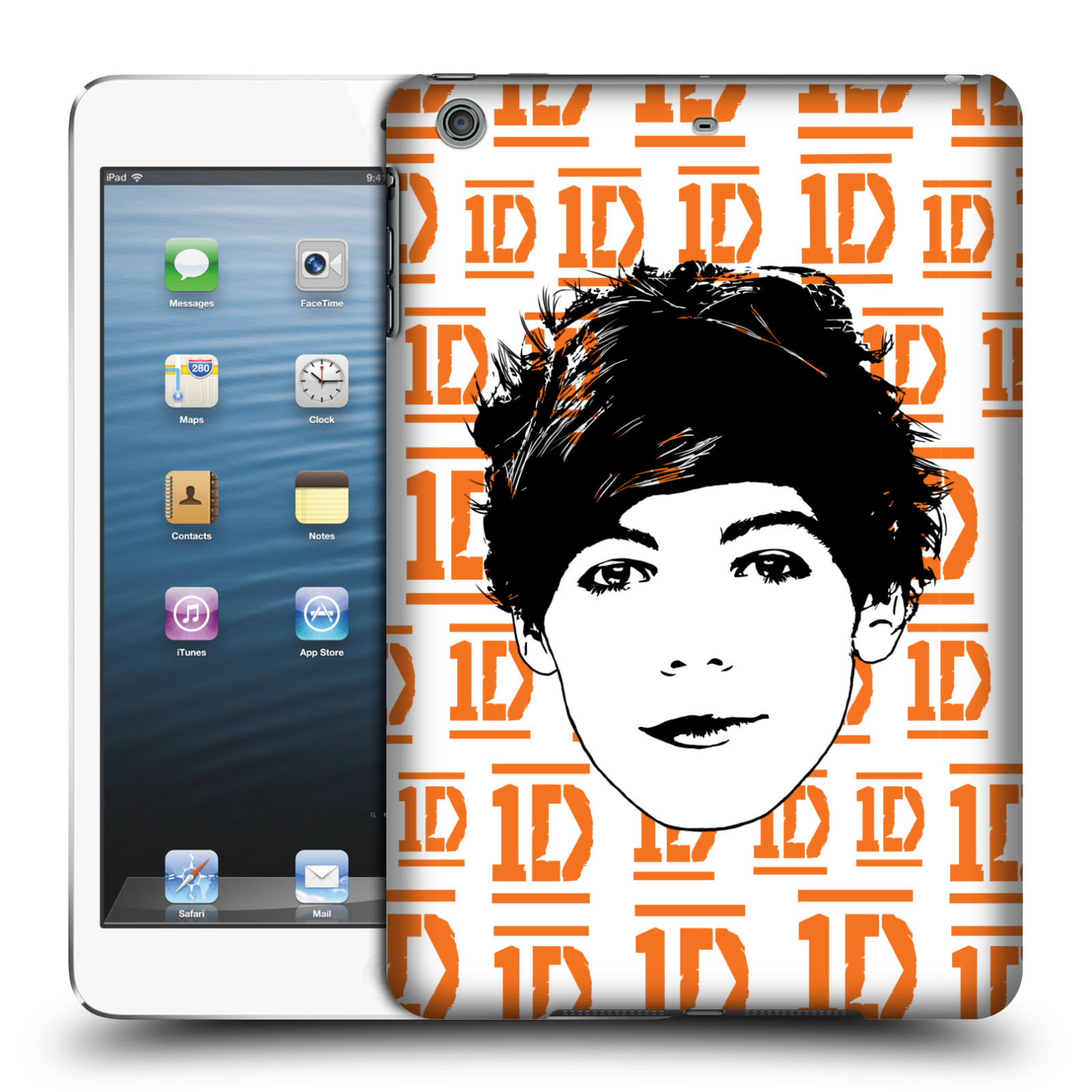 OFFICIAL ONE DIRECTION GRAPHIC FACE LOUIS HARD BACK CASE FOR APPLE IPAD