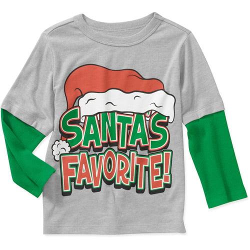 Baby Boys' Holiday Santa's Favorite Hangdown Graphic Tee