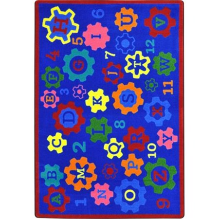 Joy Carpets 1907C Geared for Learning Classroom Seating Rectangle Rug, Multi Color - 5 ft. 4 in. x 7 ft. 8 in.