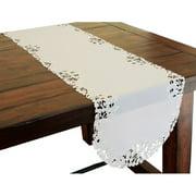 Xia Home Fashions Arietta Embroidered Cutwork Table Runner