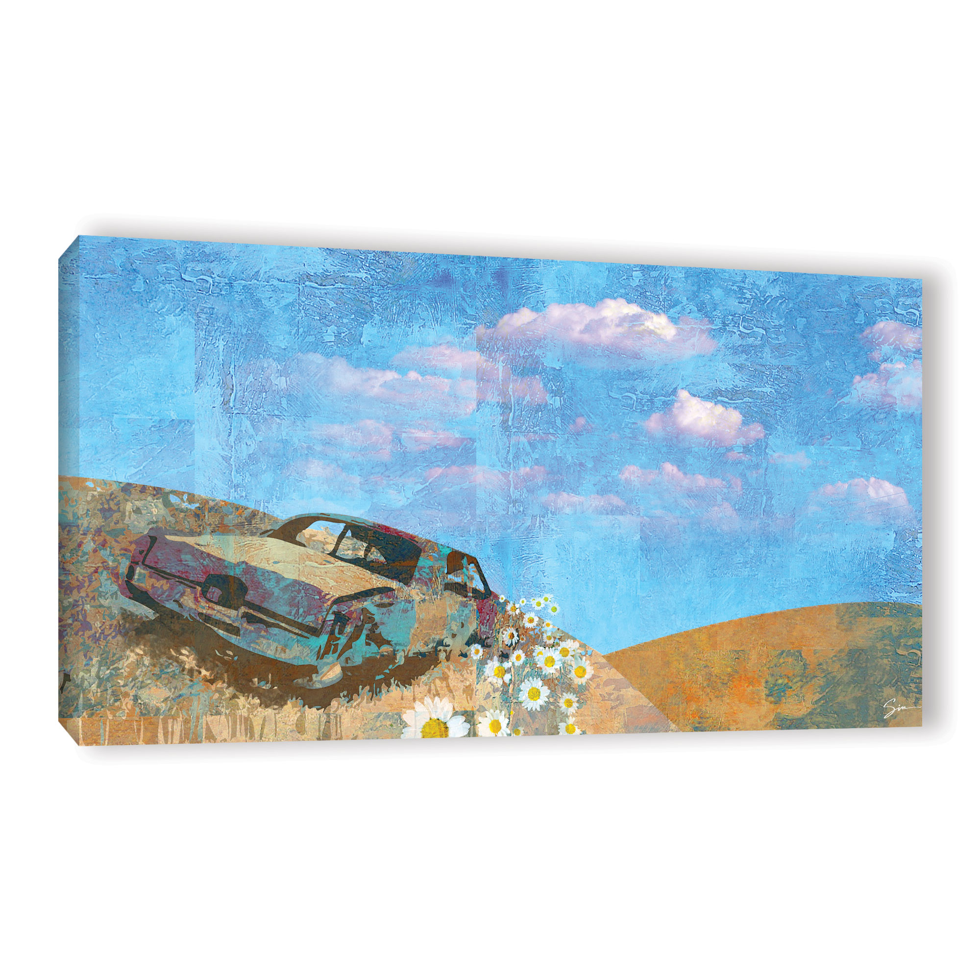 Rusted' Gallery wrapped Canvas Art Print